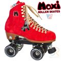 Moxi Roller Skates Poppy Red with Nylon Plate