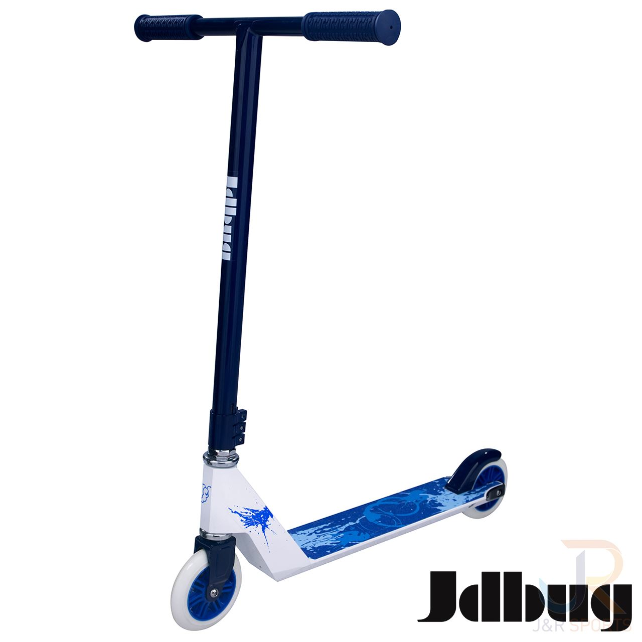 jd bug xtreme stunt scooter in white blue from jd bug. Black Bedroom Furniture Sets. Home Design Ideas