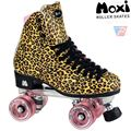 Moxi Ivy Skate - Leopard Print and Jungle Pink - Angled - MOX497351010