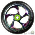 MFX CARTEL Core 120mm Wheels - Neo Black - Face - MGP207-071