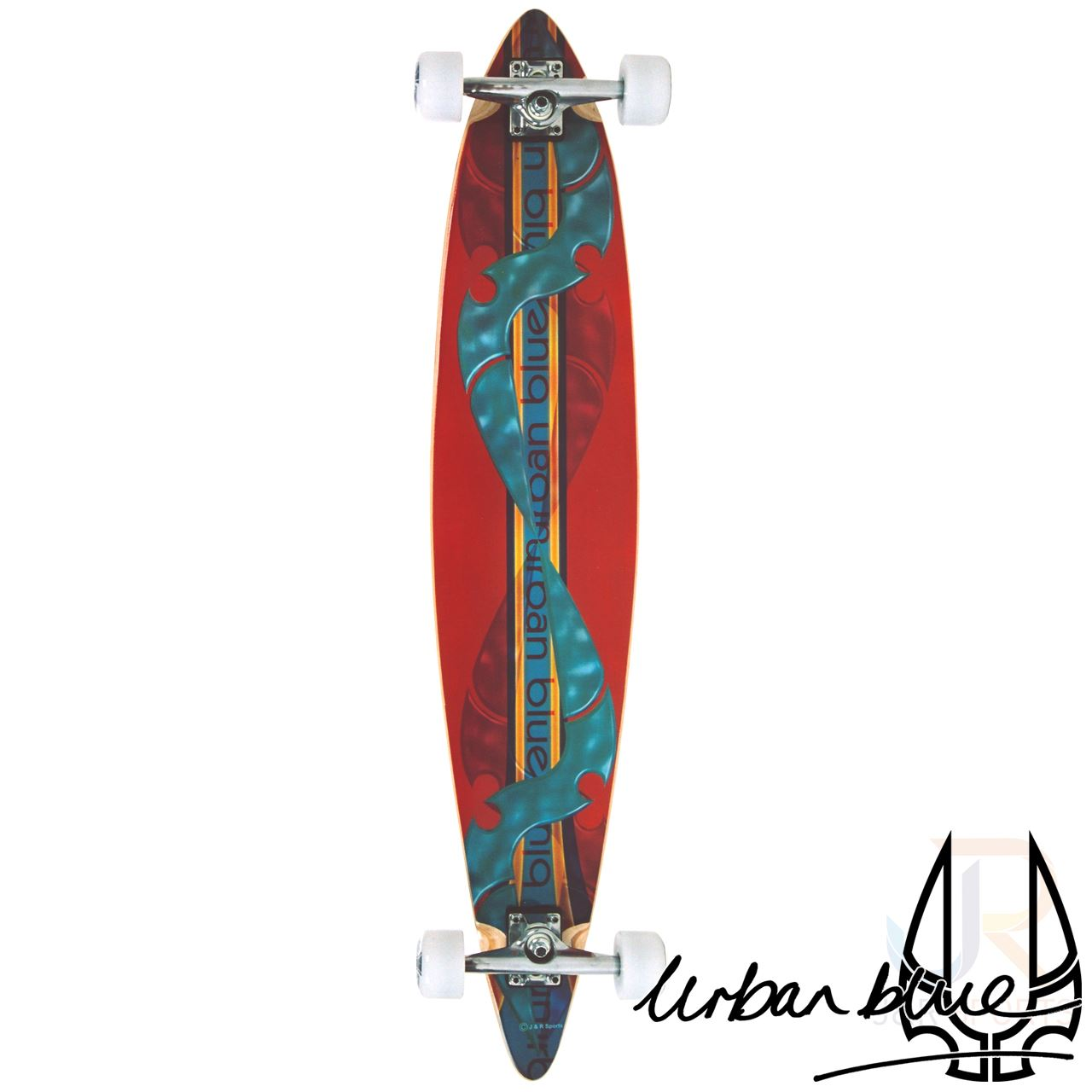 urban blue b6 445quot pintail longboard from urban blue