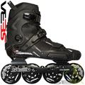 Seba HIGH Lite CARBON skates Black Side View - SSK14-SHLC