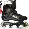Seba FR1 Deluxe 80 Skates Black Side View - SSK14-FR1D80