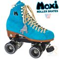 Moxi Pool Blue Roller Skates with Nylon Plate
