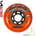 Seba Street Invader Wheels Orange 80mm