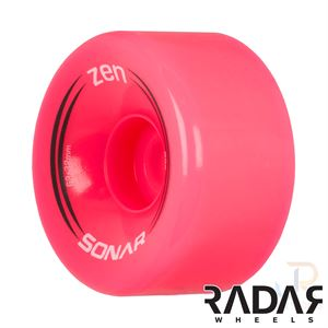 Radar Sonar Wheels Zen 62mm 85a Pink - Angled - RWSWZEPK