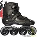 Seba HIGH Deluxe skates Black Side View - SSK14-SHDBK