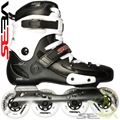 Seba FR X 80 Skates Black Side View - SSK14-FRX80