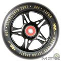 MFX FUSE Core 120mm Wheels - Black Gold - Face - MGP207-067