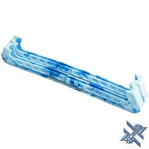 Xcess Marble Ice Skate Guards - Blue - Angled - ISG222B