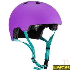 Harsh ABS Helmet - Purple - Angled - HA207-225