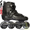Seba HIGH skates Black Side View - SSK14-SHBK